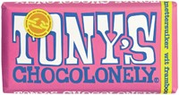 Chocolade Tony's Chocolonely reep 180gr wit framboos knettersuiker