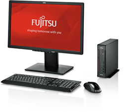 Fujitsu bundel actie 1 Fujitsu ESPRIMO Q7010 Mini-PC / B24-9 TS LED scherm / LX410 draadloos toetsenbord & muis