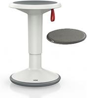 Kruk UPis1  - wit - donkergrijs zitkussen
